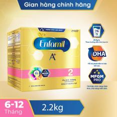 [FREESHIP] Sữa bột Enfamil 2 cho trẻ 6-12 tháng tuổi (2.2kg – hộp 4 túi thiếc 550g)