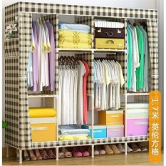 Tủ quần áo vải khung gỗ , Tủ vải khung gỗ 4 buồng 8 ngăn cao cấp, tủ đựng quần áo khung gỗ