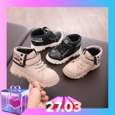 Giày thể thao cổ cao giày bé trai và bé gái phong cách Hàn Quốc