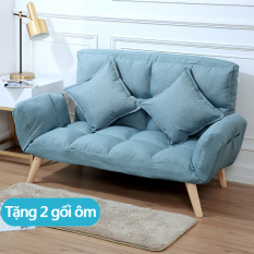 Ghế sô pha lười,sofa,sô pha có thể gấp lại sô pha đa chức năng chân gỗ chéo nhiều người dùng(Tặng 2 gối ôm)