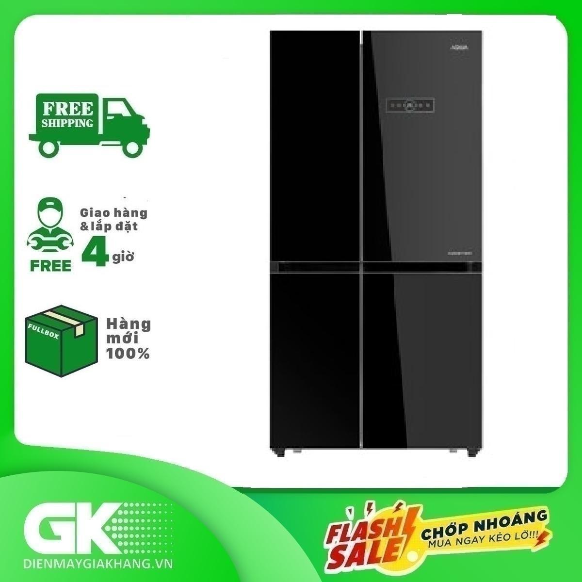 TRẢ GÓP 0% – Tủ lạnh Aqua Inverter 565 lít AQR-IG585AS GB- Bảo hành 2 năm