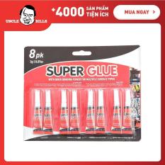 Bộ 8 ống keo dán đa năng Supper Glue UBL HY0043 dán được trên mọi bề mặt
