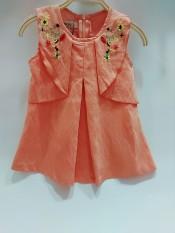 đầm cam hoa thêu cực sang cho bé từ 7-10kg