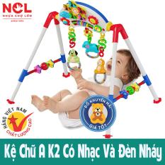 Kệ chữ a k2 bb9 cho bé sơ sinh vận động, tập thể dục có nhạc, đèn bằng nhựa Chợ Lớn [Có video] – Đồ khuyến mãi giá tốt