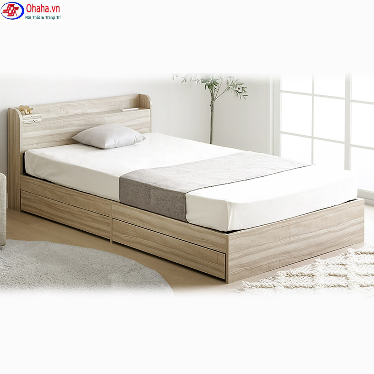 Giường ngủ gỗ công nghiệp cao cấp Ohaha-003