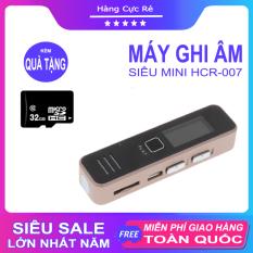 Máy ghi âm mini chuyên nghiệp + Tặng thẻ nhớ 32GB – Trọn bộ gồm 1 máy thu âm kiêm nghe nhạc HCR007, 1 cáp sạc, 1 tai nghe, 1 giấy HDSD, 1 hộp đựng – Shop Hàng Cực Rẻ