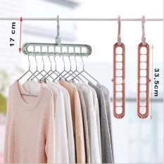 Móc treo quần áo thông minh 9 lỗ tiện dụng tiết kiệm diện tích