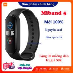 [Siêu Sales 12.12] Đồng Hồ Xiaomi Miband 5, Vòng đeo tay sức khỏe thông minh, bản nâng cấp của Miband 4 – Nguyên seal, mới 100% – Chống nước 5ATM, Theo dõi sức khỏe, Kết nối Bluetooth, Hỗ trợ tiếng Việt – Hàng chính hãng – BH 12 tháng
