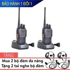 Bộ 2 Bộ đàm Baofeng 888s + Tặng 2 tai nghe bộ đàm