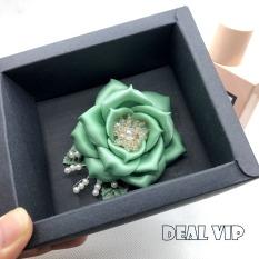 Hoa cài áo cao cấp – Nơ cài áo handmade – HM25