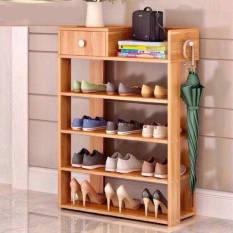 Kệ giày gỗ công nghiệp cao cấp 5 tầng có ngăn kéo tiện lợi