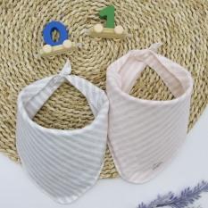 Set 2 Yếm giữ ấm cổ tam giác cho bé sơ sinh – 1 tuổi 100% cotton 2 lớp – Comfybaby