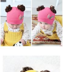 Mũ tóc giả tai thỏ nhỏ cho bé cute(1-24 tháng)