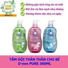 (PHÂN PHỐI ĐẠI THỊNH) Sữa tắm gội toàn thân Dnee Pure Thái Lan chai vòi 380ml cho bé từ 0-3 tuổi