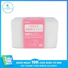Bông Tẩy Trang Miniso Siêu Mỏng Nhật Bản Hộp 1000 Miếng 100% Cotton Nguyên Chất Dai Mềm, Không Gây Kích Ứng.