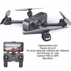 [ver 2]Flycam sjrc z5 bản pin 1500mah camera 1080p xoay 90 độ bay 20p xa 600m có tự bay về