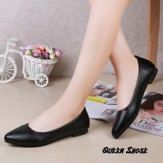 Giày búp bê nữ đế bệt, giày nữ đế bằng hàng vnxk da lỳ cao cấp