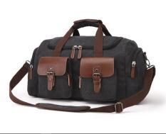 Túi trống du lịch cỡ lớn phong cách châu âu , vải canvas cao cấp bền và chắc có Quai đeo vai tiện dụng