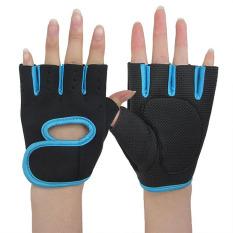 Găng tay chống trượt chống chai tay chống nắng tia uv, găng tay xỏ ngón màu đen viền màu nổi bật – NiceShop