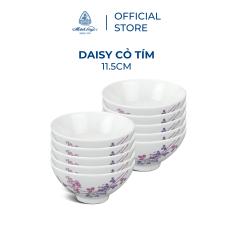 Bộ 10 chén sứ cao cấp Minh Long 11.5 cm – Daisy – Cỏ Tím