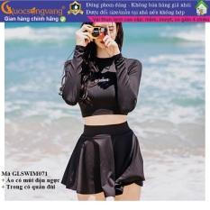 Bộ bơi nữ dài tay chất đẹp đồ đi biển nữ kiểu váy GLSWIM071 Cuocsongvang