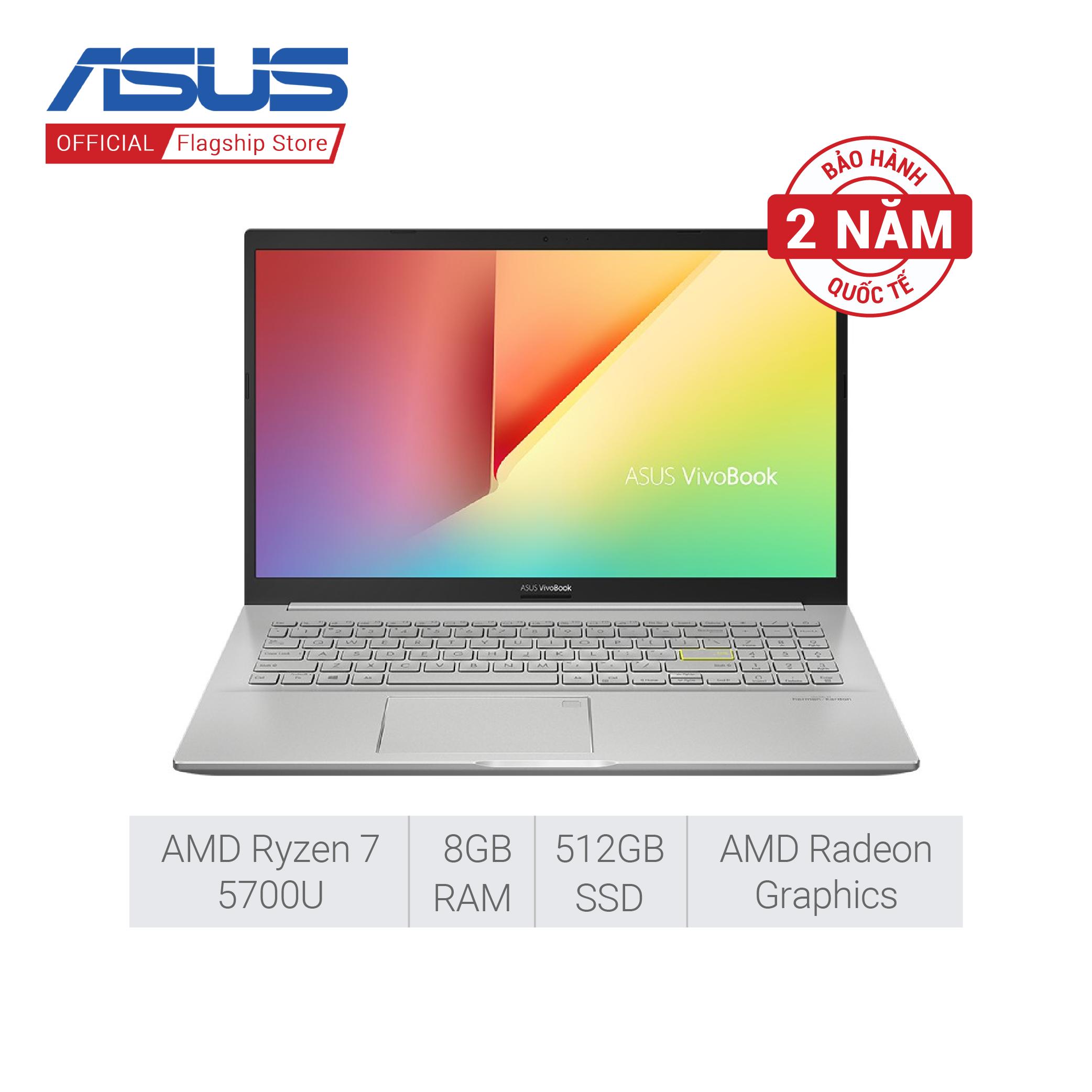 [Trả góp 0%]Laptop ASUS VivoBook M513UA-EJ033T | R7-5700U | 8GB | 512GB SSD | AMD Radeon Graphics| 15.6 inch