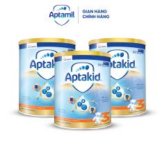 Combo 3 Sữa bột Aptakid New Zealand hộp thiếc (900g/lon) cho bé từ 24 tháng tuổi