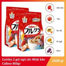 Combo 2 gói Ngũ cốc dinh dưỡng Nhật Bản Calbee bịch màu đỏ 800g