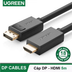 Dây cáp DisplayPort 1.2 sang HDMI hỗ trợ Full HD lên đến 1080P, dài 1-5M UGREEN DP101 – Hãng phân phối chính thức