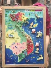 Bộ lắp ghép bản đồ Việt Nam và biển đảo bằng nam châm