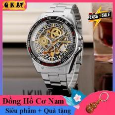 Đồng hồ cơ nam Winner – Đồng hồ cơ lộ máy-Đồng hồ nam Winner TM4 Siêu đẹp sang trọng- Đồng hồ nam dây thép đúc đặc không gỉ-Mặt chống xước-Đồng hồ chống nước–Quà tặng hấp dẫn