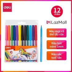 Bút màu nước 1.0mm DELI- 12 màu/18 màu/24 màu – EC10003/EC10013/EC10023