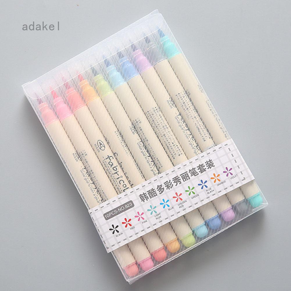 Adakel Bộ bút ghi chú 10 màu rất đẹp có thể dùng vẽ tranh dành cho văn phòng học tập làm quà tặng giá tốt