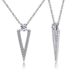 Dây chuyền Unique Style J'admire bạc 925 cao cấp mạ Platinum đính đá Swarovski® trắng