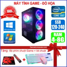 Máy tính PC Game LED CPU Dual Core E7/8xxx / i3-2100 / Ram 4GB-8GB / HDD 250GB – SSD 120GB / VGA 1GB – 2GB chơi PUBG mobile, PUBG lite, LOL, CF đột kích, Fifa, Cs Go, AOE … + [QÙA TẶNG: Phím chuột Game, bàn di chuột] – LDV