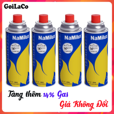 bộ 4 Lon Gas Mini Du Lịch Namilux 250G/Lon, Xuất sứ Hàn Quốc, Đảm Bảo An Toàn Khi Sử Dụng