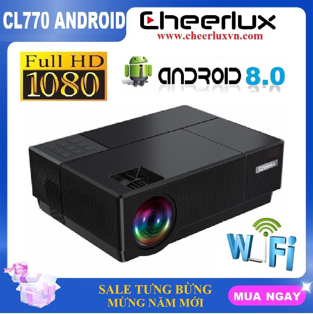 [Nhập ELJAN11 giảm 10%, tối đa 200k, đơn từ 99k]Máy chiếu Android FULL HD Cheerlux CL770 projector kết nối WIFI...