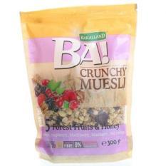 Ngũ cốc Bakalland Muesli 5 loại trái cây sấy nhiệt đới Cherry, dâu rừng, việt quất, mâm xôi, nho và mật ong 300g Date 6. 2020 sản xuất tại Ba Lan