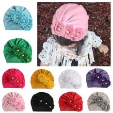 Mũ turban 3 bông hoa siêu yêu cho bé(0-10tháng)