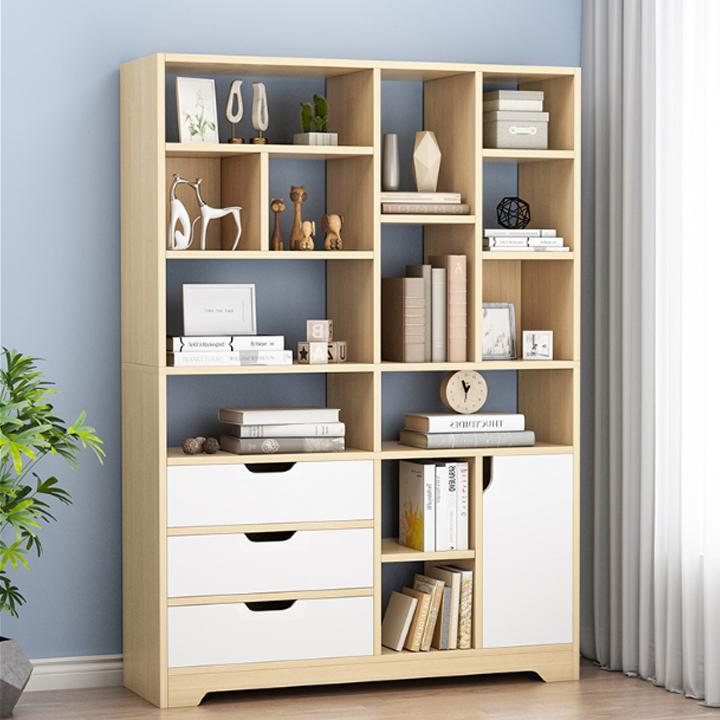 Kệ sách tủ để hồ sơ tủ để tài liệu để sàn nhiều ngăn thông minh MDF trang trí phòng khách phòng ngủ phòng làm việc, văn phòng