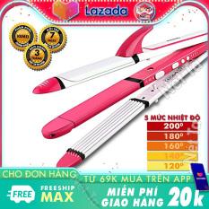 Máy làm tóc 3in1 điều chỉnh nhiệt Kemei KM-3304 bảo hành 3 tháng Nét Ta dùng để uốn tóc duỗi tóc dập sóng tiện lợi