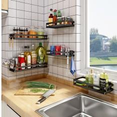 Kệ đựng gia vị dán tường không cần khoan đục Kệ nhà bếp đa năng hình chữ nhật 34x10x5cm