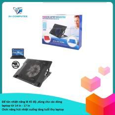 Đế tản nhiệt laptop /quạt tản nhiệt laptop HH-S1012 nâng 45 độ dùng cho các dòng laptop 14 in -17 in