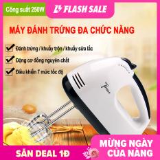 Máy đánh trứng tự động mini Máy đánh kem trứng Dụng cụ làm bánh – Đánh khuấy nhanh, động cơ lõi đồng, điều chỉnh được 7 mức độ