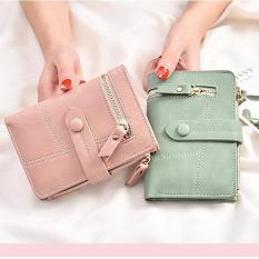 Bóp ví ngắn nữ cầm tay khóa ngang cao cấp . Phong cách Hàn Quốc (TT1964)