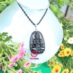 Dây chuyền Phật Như Lai Đại Nhật_ Phật hộ mệnh cho tuổi Thân_Đá Phong Thủy_ Mặt Phật Đá Núi Lửa Obsidian (3,3 x 5 cm)