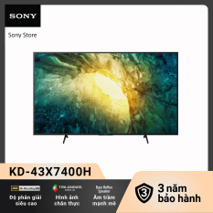 [Trả góp 0%] Android Tivi Sony 4K 43 Inch KD-43X7400H