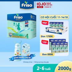 [MỚI] Sữa bột Friso Gold 4 Hộp Giấy 2KG + Bình Nước Giữ Nhiệt Inox Cao Cấp 500ml