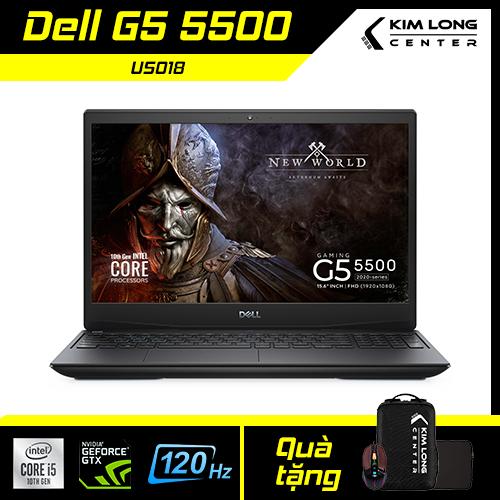 [SALE 2021] Laptop Dell G5 5500 : i5-10300H | 8GB RAM | 256GB SSD | GTX 1650Ti 4GB + UHD Graphics 630 | 15.6 FHD 120Hz | WIN 10 | Black