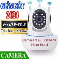 Camera IP Wifi Yoosee 3 Râu HD Không Dây Phiên Bản 2019 Xoay 360 Độ